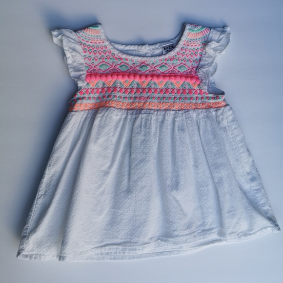 Light and Airy Cap Sleeve Shirt 6-12m